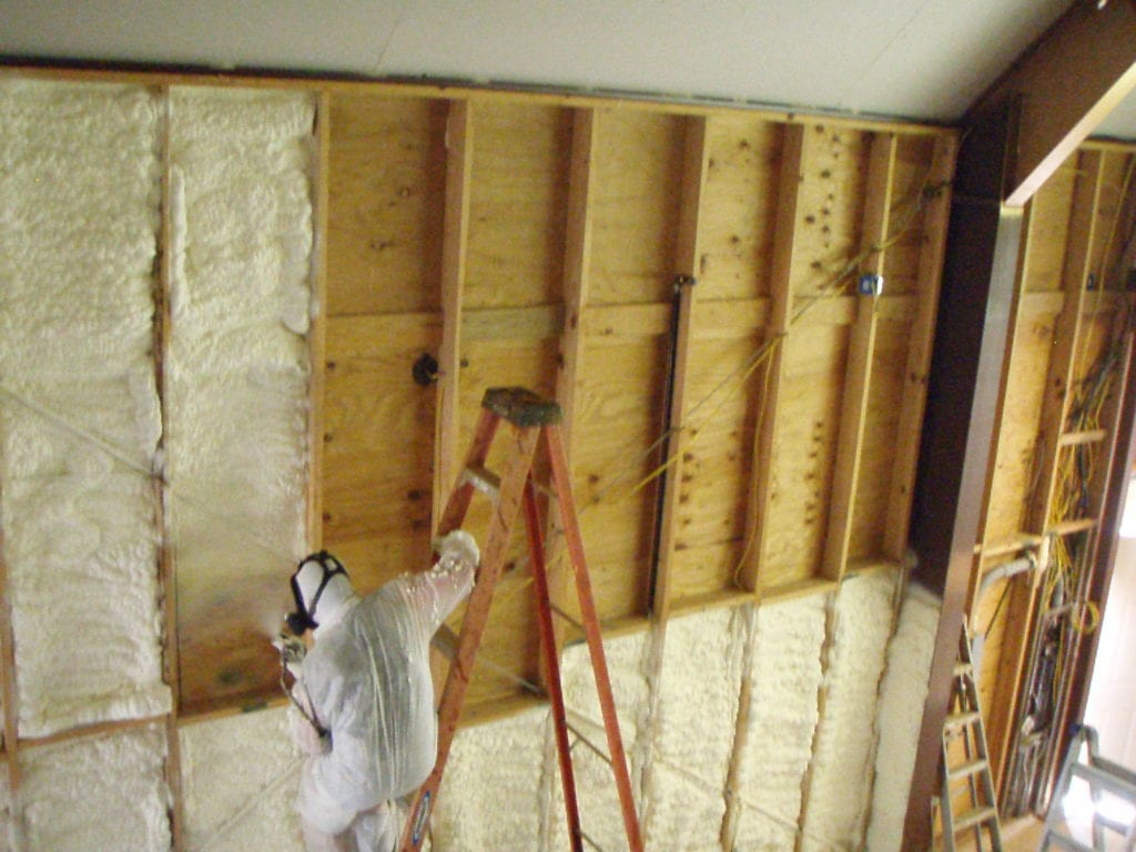 Spray Foam Insulation Green Construction